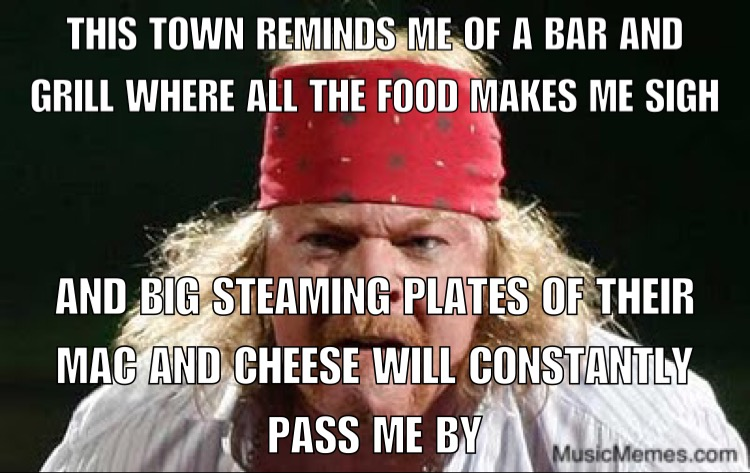 Fat Axl – This Town Reminds Me of a Bar and Grill